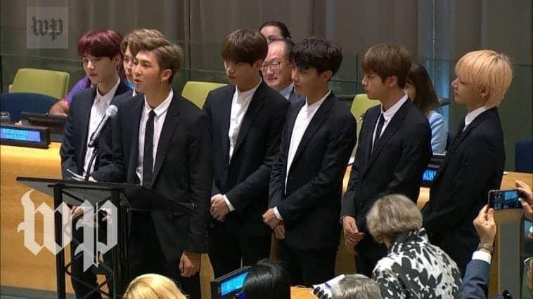 BTS discours UN