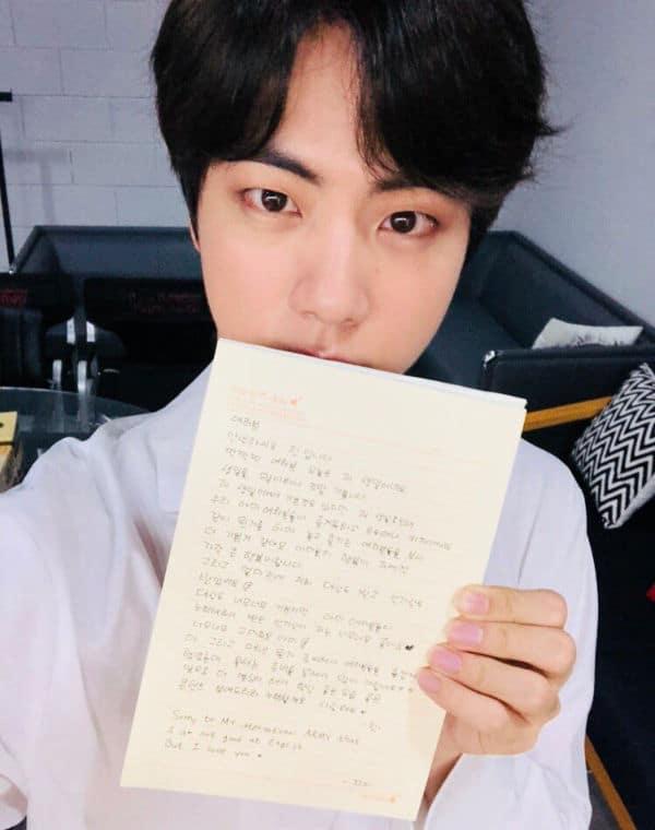 BTS Jin anniversaire