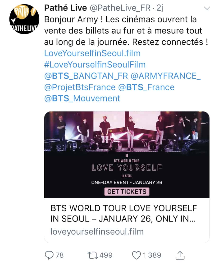 reservation LOVE YOURSELF IN SEOUL