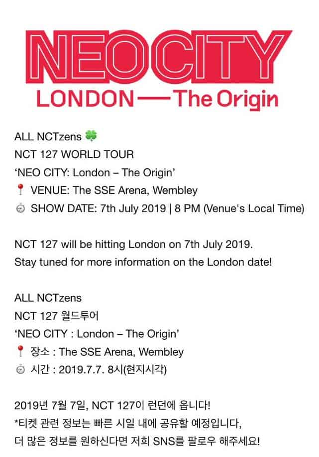 nct 127 londres