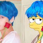 taehyung bts simpson