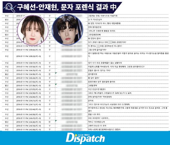 goo hye sun ahn jae messages