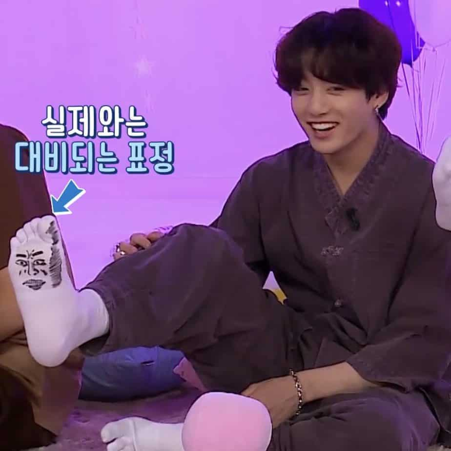 jungkook chaussettes
