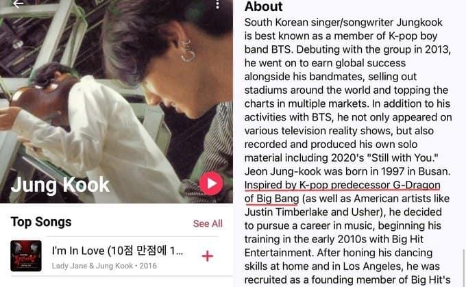 jungkook apple music solo g-dragon