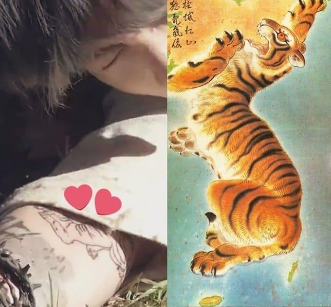 jungkook tigre bts tatouage