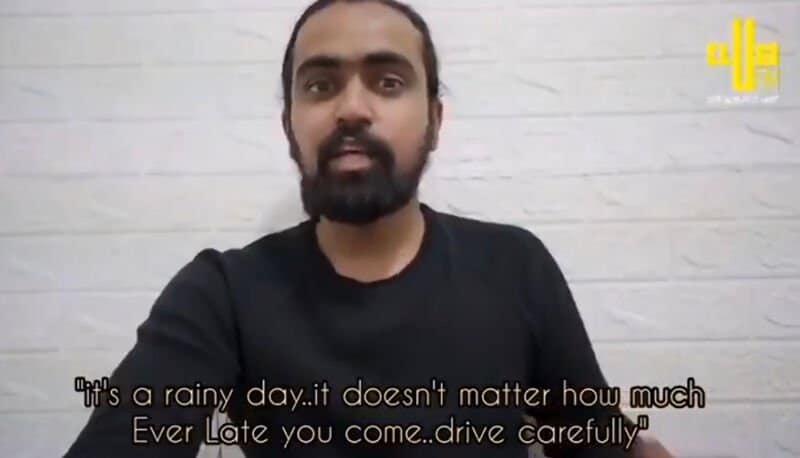 Un livreur indien en Corée parle du message Suga